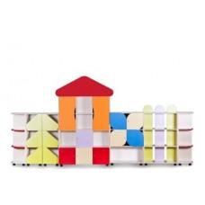 Стенка детская для игрушек и пособий Терем