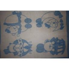 Одеяло п/ш жаккард пл.400г/м2  детский рисунок (Украина)140Х100
